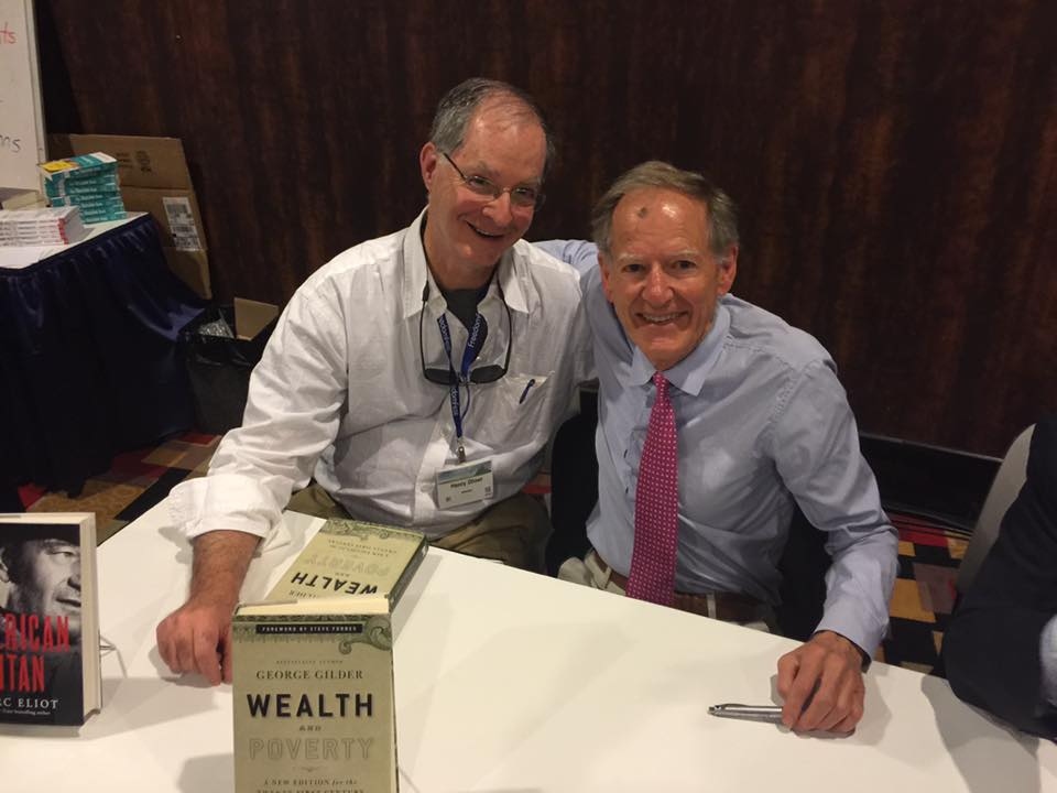 George Gilder after signing my copy of Wealth and Poverty